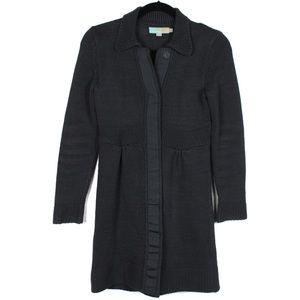 Boden US 4 Grey Long Cardigan Sweater Knit
